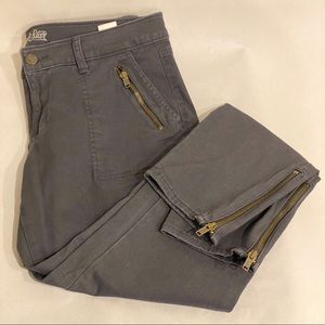Old Navy Rockstar Pants with Zipper Detail Size 12